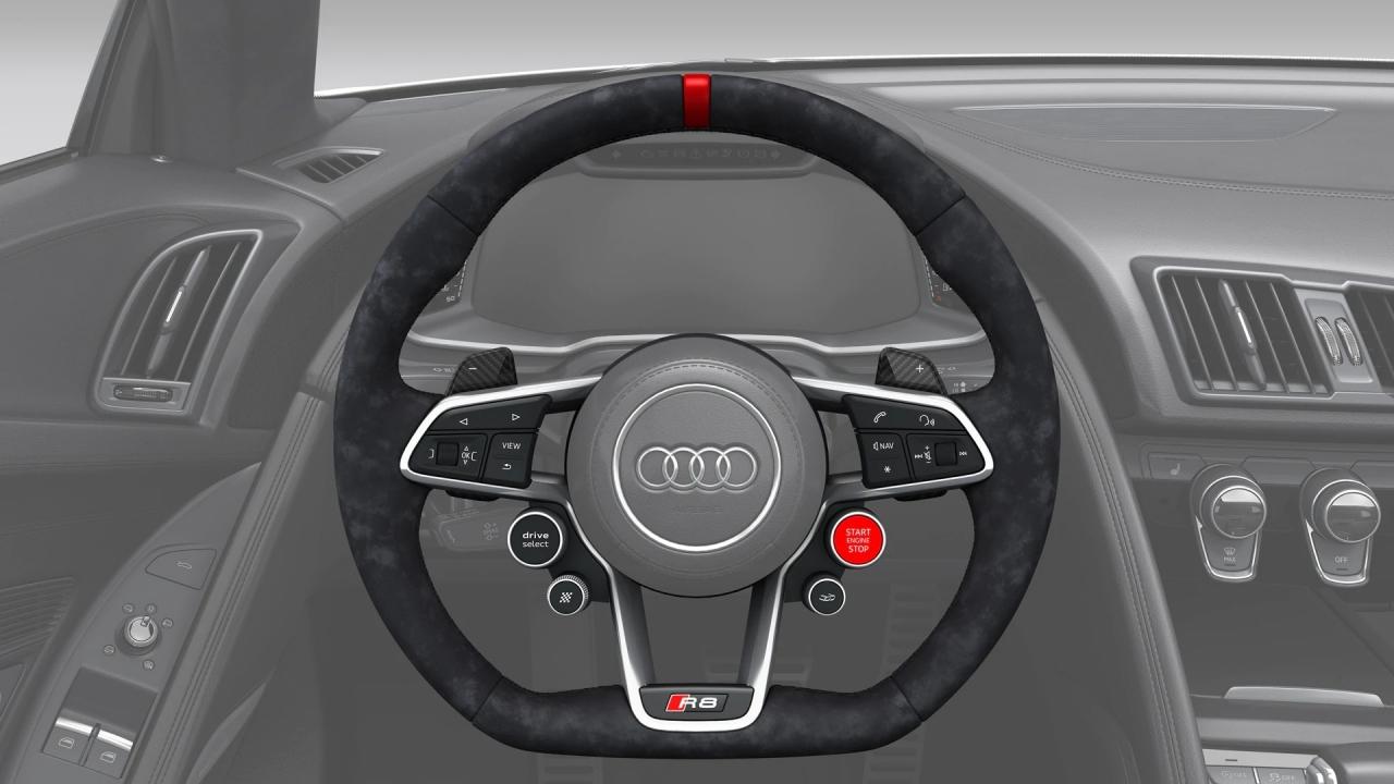 Lenkrad Schaltwippen in Carbon R8 4S