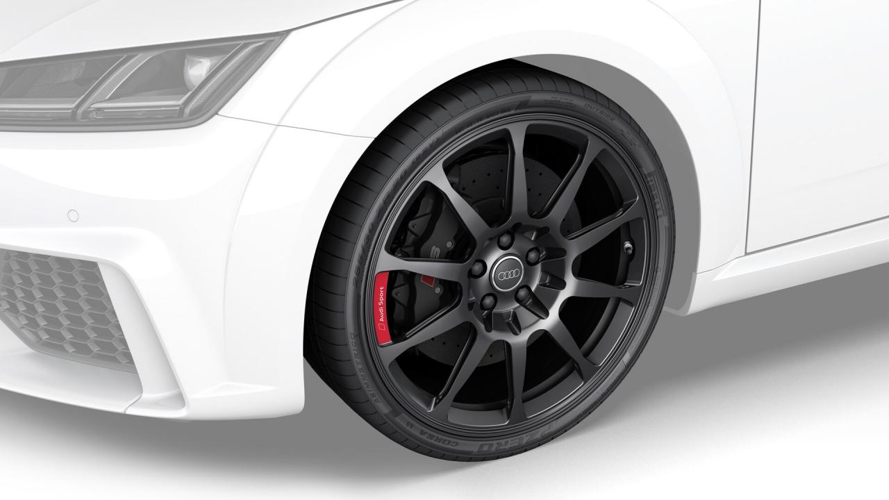 Aluminium-Vollfräsräder 10-Speichen Design schwarz matt TTRS 8S