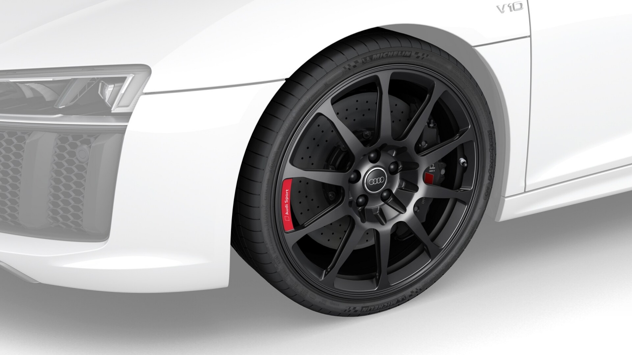 Aluminium-Vollfräsräder im 10-Speichen-Design in Schwarz matt R8 4S